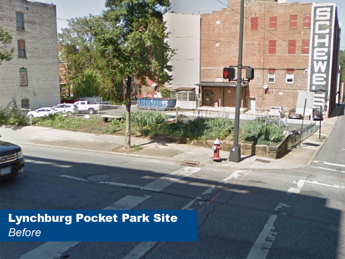 Lynchburg Pocket Park - Before - Shopped