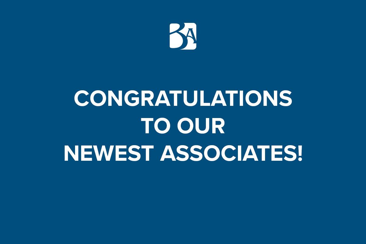 New Associates Announcement Banner